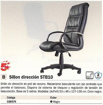 5 ESTRELLAS SILLÓN DE DIRECCIÓN KIEV MECANISMO BASCULANTE NEGRO SIMIL-PIEL 2495006