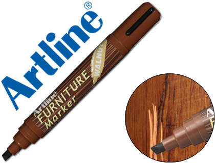 ARTLINE PERMANENTE EK 95 FURNITURE WALNUT NOGAL PUNTA BISELADA 2,0 5,0 MM EN BLISTER BRICO EK-95-WN