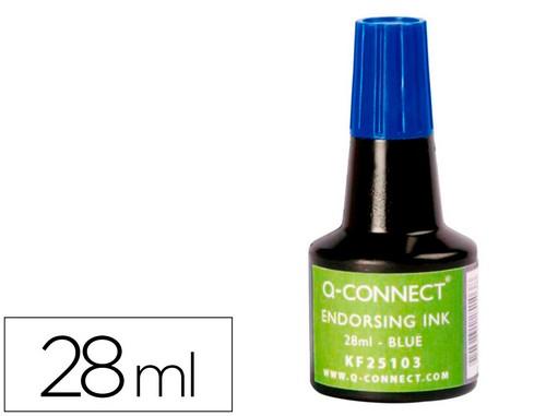 Tampones tinta TINTA TAMPON Q-CONNECT AZUL -FRASCO DE 28 ML