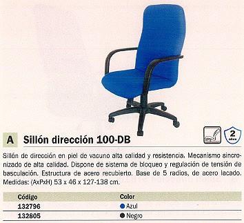 5 ESTRELLAS SILLONES DE DIRECCIÓN DUBLÍN AZUL RESPALDO ALTO 100DBBALI229