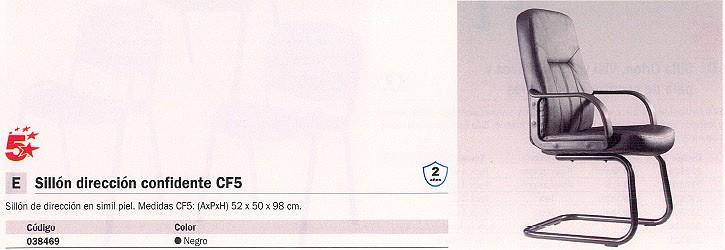 5 ESTRELLAS SILLÓN CONFIDENTE HABANA SIMIL PIEL NEGRO 2495004
