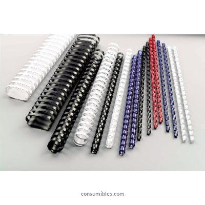 Canutillos GBC CANUTILLOS 100UD BLANCO LOMO 19MM PLASTICO 4028611
