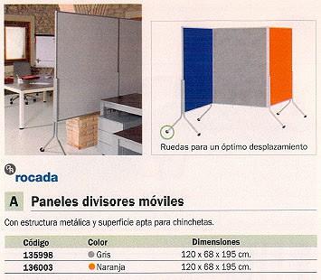 ROCADA PANEL DIVISOR 120X68X195 CM GRIS METÁLICO RD 8100
