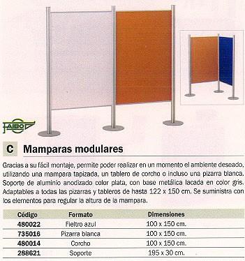 FAIBO SOPORTE MAMPARA 195X30 CM PLATA ALUMINIO MODULAR 13-35