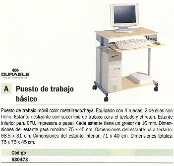 DURABLE PUESTO DE TRABAJO METALIZADO/HAYA 3197-120