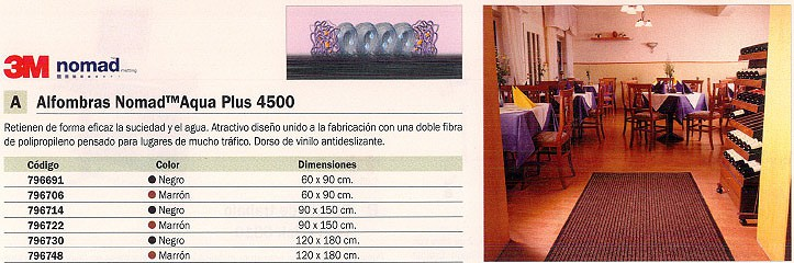 3M ALFOMBRA AQUA PLUS 4500 90X150 MARRON FZ010010382