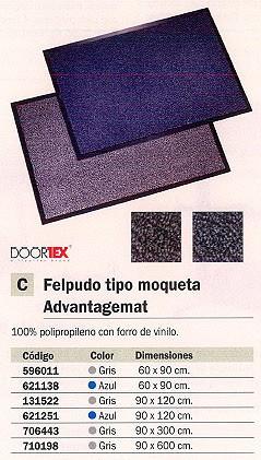 FLOORTEX FELPUDO ADVANTAGEMAT 60X90 AZUL FC46090DCBLV
