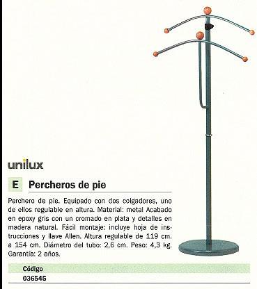UNILUX 2 COLGADORES GRIS/MADERA 100340713