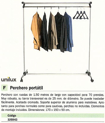 UNILUX PERCHERO PORTATIL 100340714