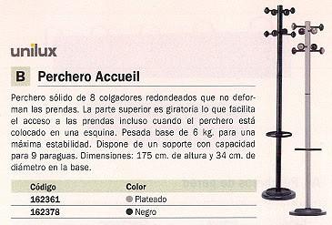 UNILUX PERCHERO PIE 8 COLGADORES NEGRO 100340694