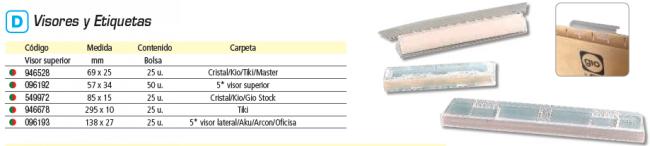 ELBA PAQUETE DE 10 HOJA A5 27 ETIQUETAS AKU-ARCON 14,4X0,8 BLANCAS BORDE COLOR 100330201