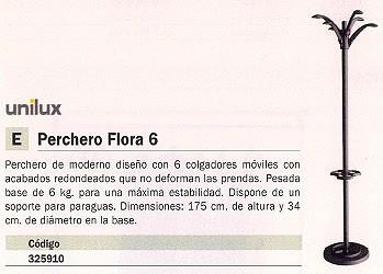 UNILUX PERCHERO PIE FLORA 6 6 COLGADORES 100340711
