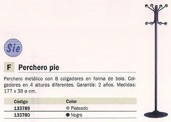 SIE PERCHERO PIE 8 COLGADORES PLATA 606 P PL
