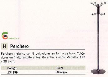 CILINDRO PERCHERO PIE 8 COLGADORES H-12D