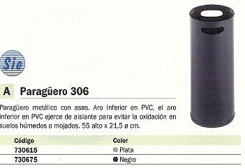 SIE PARAGÜERO 306 METÁLICO 55X21,5 CM CON ASAS 306 PL