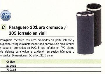 SIE PARAGÜERO METÁLICO 50X21,5 NEGRO 301