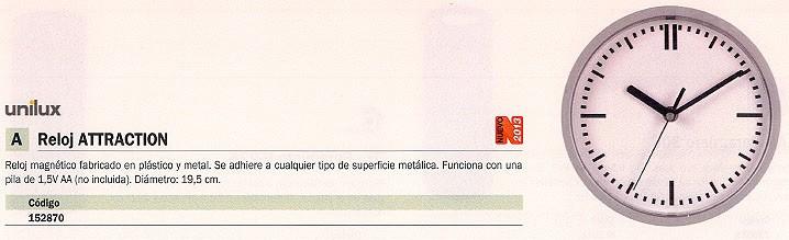 UNILUX RELOJ MAGNÉTICO ATTRACTION 100340849