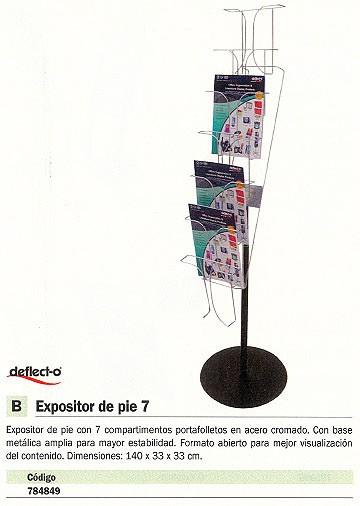 DEFLECTO EXPOSITOR DE PIE 140X33X33 7 COMPARTIMENTOS 4 KG 78745