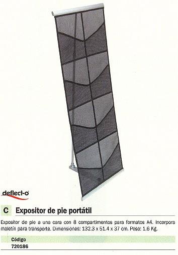 DEFLECTO EXPOSITOR DE PIE PORTATIL 140X33X33 8 COMPARTIMENTOS 4KG 780272