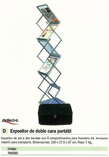 DEFLECTO EXPOSITOR DE PIE A4-150X27,5X37CM 6 COMPARTIMENTOS 36100