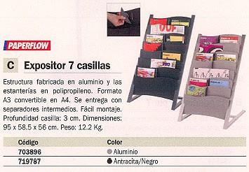 PAPERFLOW EXPOSITOR VERTICAL 95X58,5X56 CM 7 CASILLAS ANTRACITA/NEGRO 2860.111