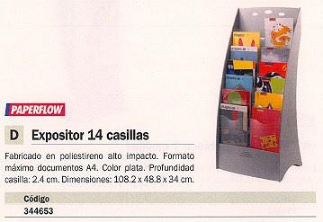 PAPERFLOW EXPOSITOR DE PIE 108,2X48,8X34 14 COMPARTIMENTOS 9,5 KG 2858.35