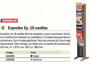 PAPERFLOW EXPOSITOR EP 167,5X30X38,5 10 CASILLAS NEGRO 278N.01