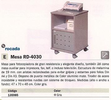 ROCADA MESA PARA FOTOCOPIADORA 47X70X48CM GRIS RD 4030