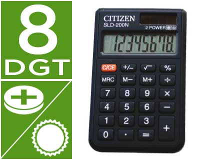 CITIZEN CALCULADORA CITIZEN BOLSILLO SLD 200N 8 DIGITOS SLD-200N