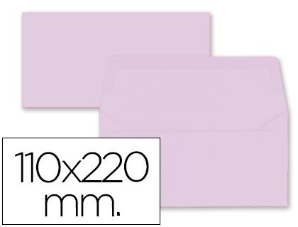 Sobres de papel de colores SOBRE LIDERPAPEL AMERICANO ROSA PALIDO 110X220 MM 80 GR PACK DE 9 UNIDADES
