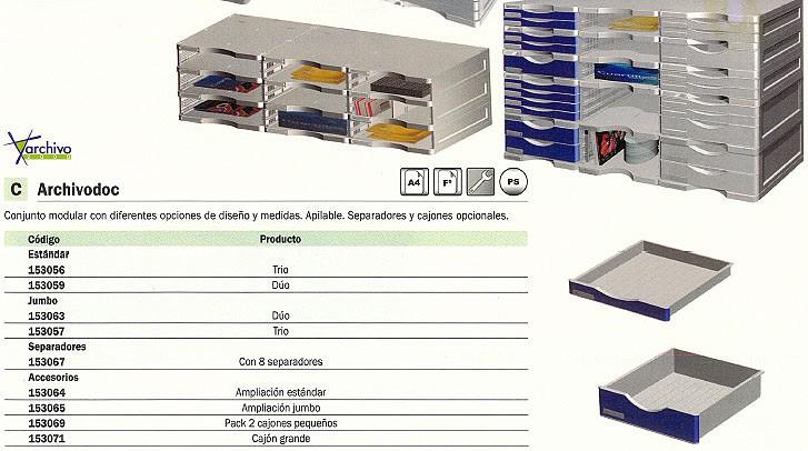 ARCHIVO 2000 MÓDULO 4 HUECOS 600X360X165MM GRIS 6522GS