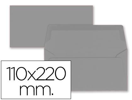 Sobres de papel de colores SOBRE LIDERPAPEL AMERICANO GRIS 110X220 MM 80 GR PACK DE 9 UNIDADES