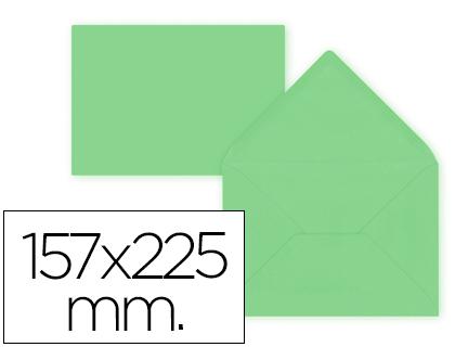 Sobres de papel de colores SOBRE LIDERPAPEL C5-E A5 VERDE 157X225MM 80 GR PACK DE 9 UNIDADES