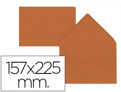 Sobres de papel de colores SOBRE LIDERPAPEL C5-E A5 MARRON 157X225MM 80 GR PACK DE 9 UNIDADES