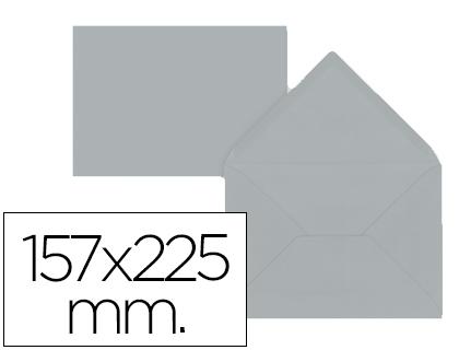 Sobres de papel de colores SOBRE LIDERPAPEL C5-E A5 GRIS 157X225MM 80 GR PACK DE 9 UNIDADES