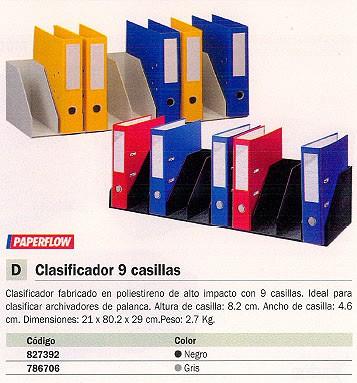 FAST CLASIFICADOR 9 HUECOS STANDARD 21X80,2X29 CM GRIS 4944.02