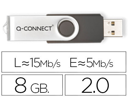 USB MEMORIA USB Q-CONNECT FLASH 8 GB 2.0
