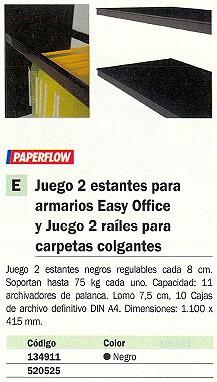 PAPERFLOW BALDA 110X41,5 NEGRO EOTAB.01