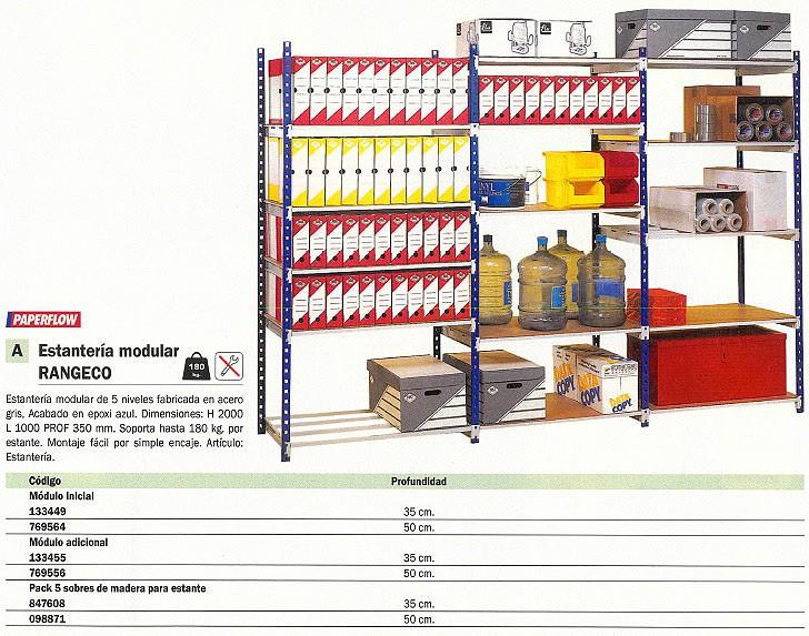 PAPERFLOW PACK DE 5 SOBRES PARA ESTANTES RANGECO SOBRE DE MADERA PARA ESTANTE PROFUND. 50 CM 5155