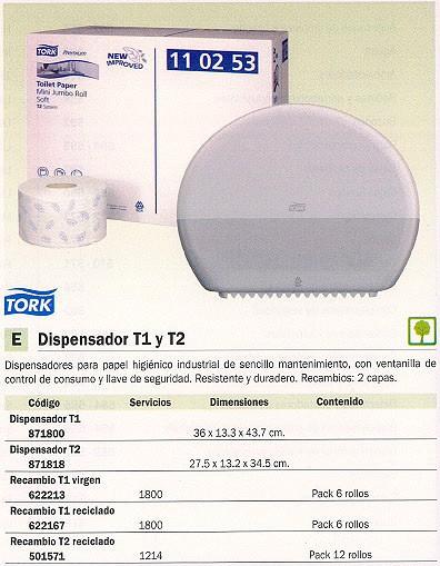 TORK DISPENSADOR PAPEL HIGIÉNICO T2 275X132X345 55500000