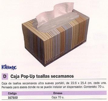 KIMBERLY-CLARK TOALLAS SECAMANOS POR-UP CAJA 70 UD 1126