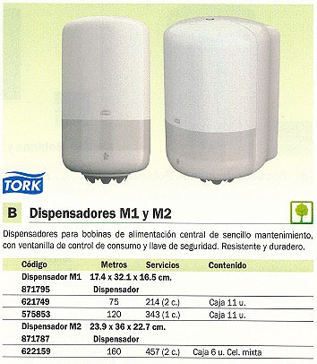 TORK DISPENSADOR TOALLAS M1 174X321X165 55800000