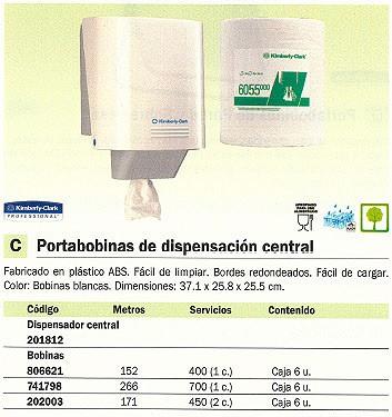 KIMBERLY-CLARK RECAMBIO TOALLAS CAJA 6 UD BOBINA 450 SERVICIOS BL6055