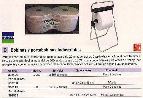 BUNZL PORTABOBINA INDUSTRIAL PACK 2 UD 600 M 1714 SERVICIOS 2 CAPAS 15257