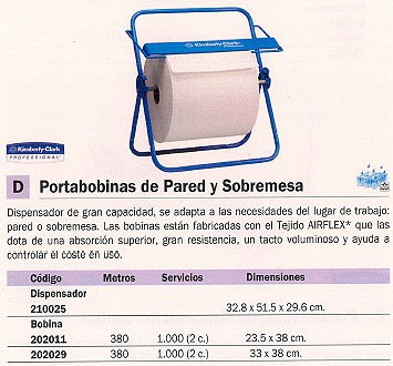 KIMBERLY CLARK DISPENSADOR BOBINA INDUSTRIAL 328X515X296 6146