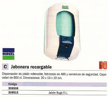 BUNZL RECAMBIO JABON BUGA 5L LIQUIDO 9392