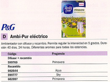 AMBIPUR RECAMBIO AMBIENTADOR ELECTRICO AQUA 5600435288