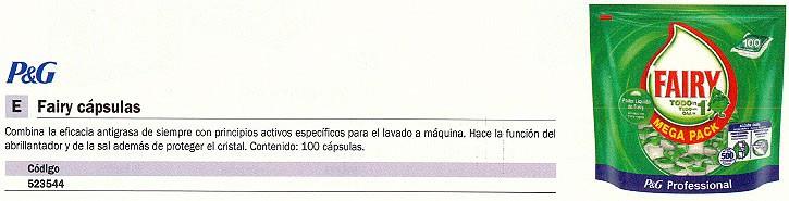 FAIRY LAVAVAJILLAS 100 UD CAPSULAS 0076374885