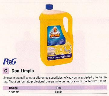 DON LIMPIO LIMPIO LIMPIADOR LIMÓN 5 L LIQUIDO 3149514027