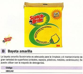 3M BAYETAS MULTIUSOS 3 UD AMARILLA DE272936209